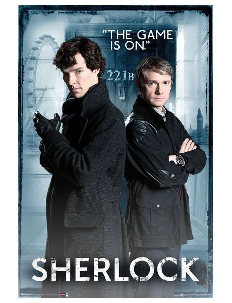 Sherlock The Game is On - plakat