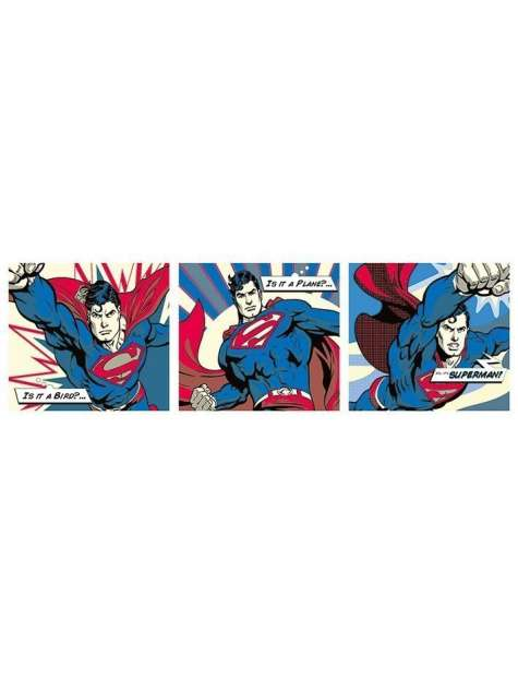 Superman Pop Art Triptych - plakat