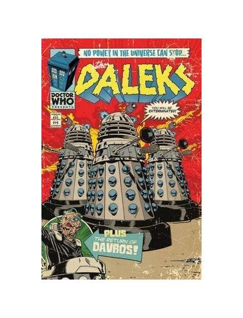 Doctor Who - Komiksowe Pojazdy Daleków - plakat