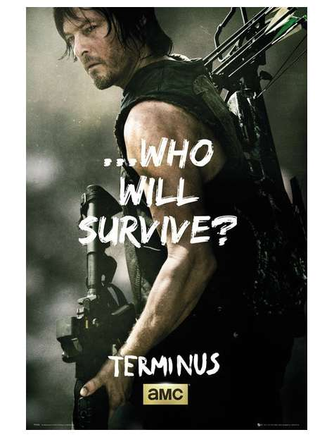 The Walking Dead Daryl Survive - plakat