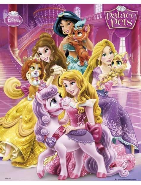Księżniczki i ich zwierzaki - plakat