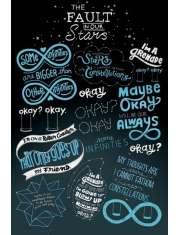 Gwiazd naszych wina - Typografia - plakat