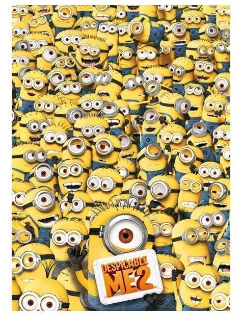 Minionki Rozrabiają 2 - Grupa Minionków - plakat