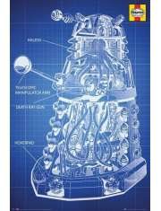 Doctor Who Dalek Blueprint Haynes - plakat
