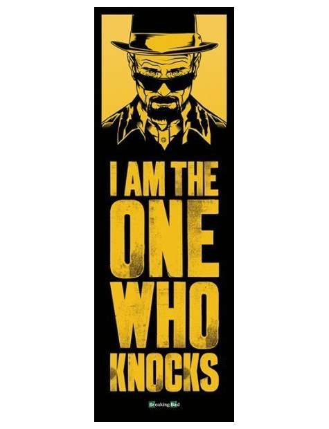 Breaking Bad Heisenberg I am the One Who Knocks - plakat