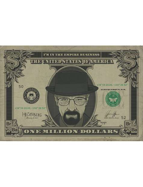Breaking Bad Heisenberg Dollar - plakat