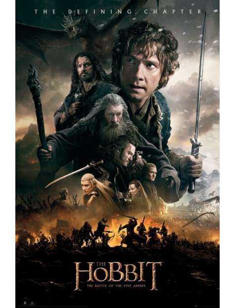 Hobbit Bitwa Pięciu Armii Ogień - plakat