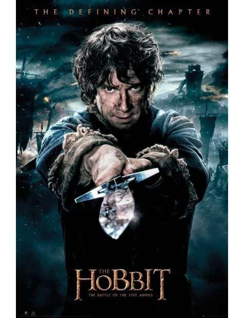 Hobbit Bitwa Pięciu Armii Bilbo - plakat