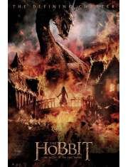 Hobbit Bitwa Pięciu Armii Smok - plakat