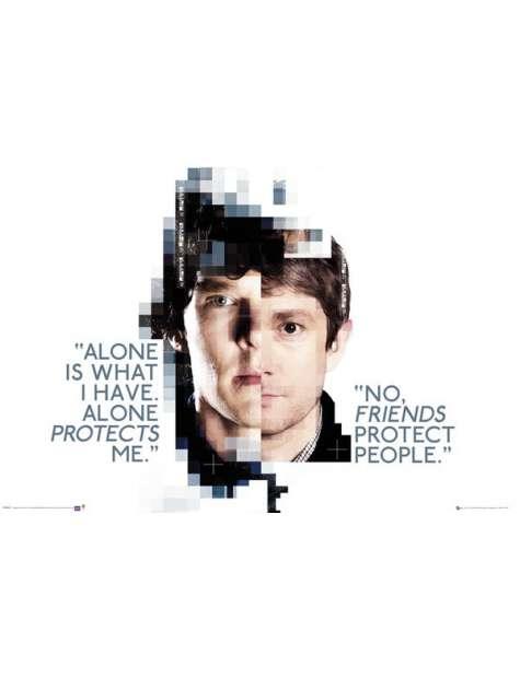 Sherlock Faces - plakat