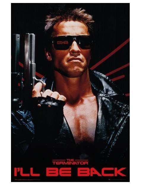 Terminator I'll be Back - plakat