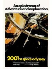 2001: A Space Odyssey Stanley Kubrick - 2001: Odyseja Kosmiczna - retro plakat