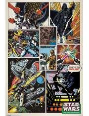Star Wars Gwiezdne Wojny Retro Komiks - plakat