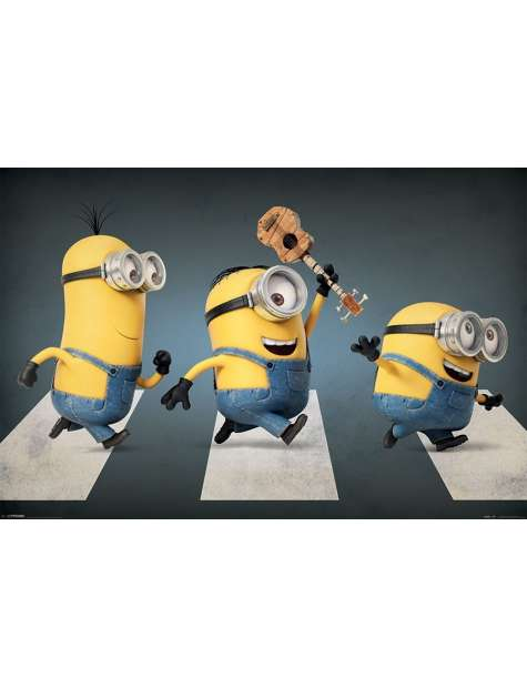 Minionki Abbey Road - plakat