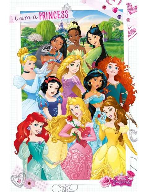 Disney Księżniczki - Jestem księżniczką - plakat