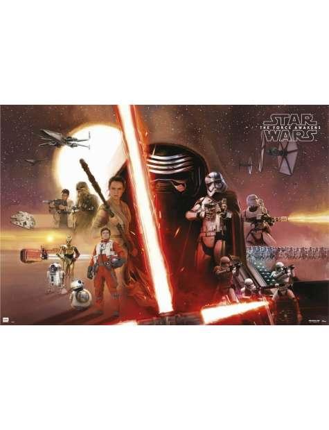 Star Wars Gwiezdne Wojny Przebudzenie Mocy Bohaterowie - plakat