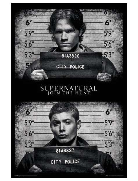 Supernatural Mug Shots - plakat