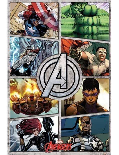 The Avengers Komiks - plakat