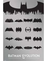 Batman Ewolucja Logo - plakat