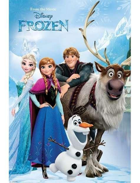 Kraina Lodu Frozen Bohaterowie - plakat