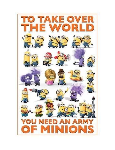 Minionki Przejmują Władzę nad Światem - plakat