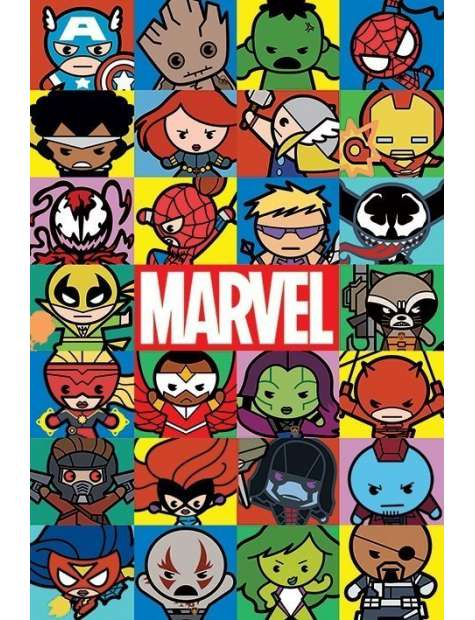 Marvel Comics Kawaii - plakat