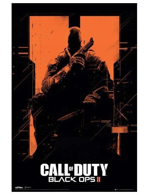 Call of Duty Black Ops II Orange - plakat