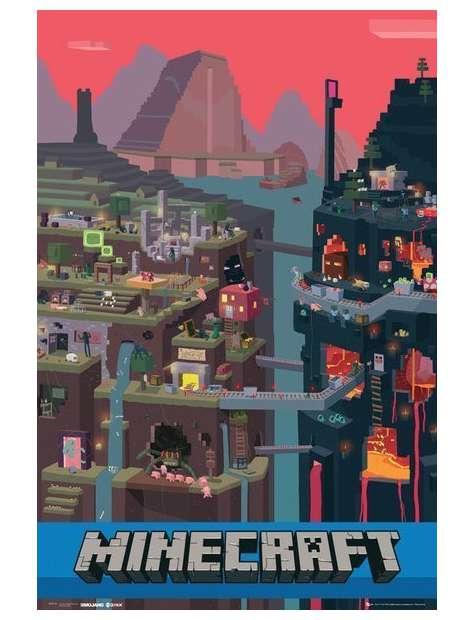 Świat Minecraft - plakat