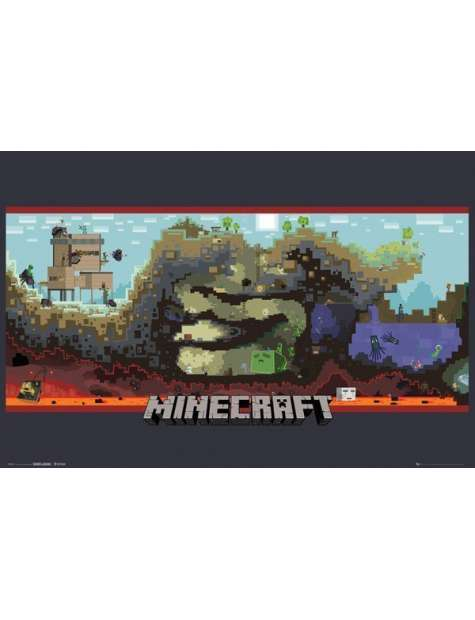 Minecraft Podziemia - plakat