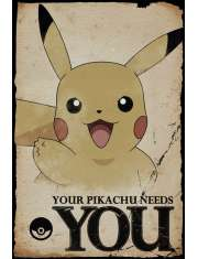 Pokemon Pikachu needs You - plakat