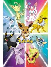 Pokemony Eevee Evolution - plakat