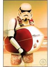 Star Wars Gwiezdne Wojny Szturmowiec Surfing - plakat