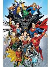 DC Comics Rebirth Liga Sprawiedliwości - plakat