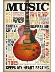 Muzyka jest Pasją - plakat motywacyjny