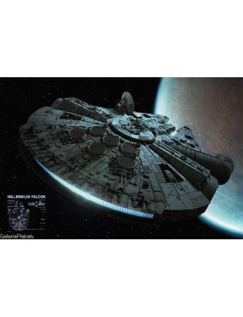 Star Wars Gwiezdne Wojny Sokół Millennium - plakat