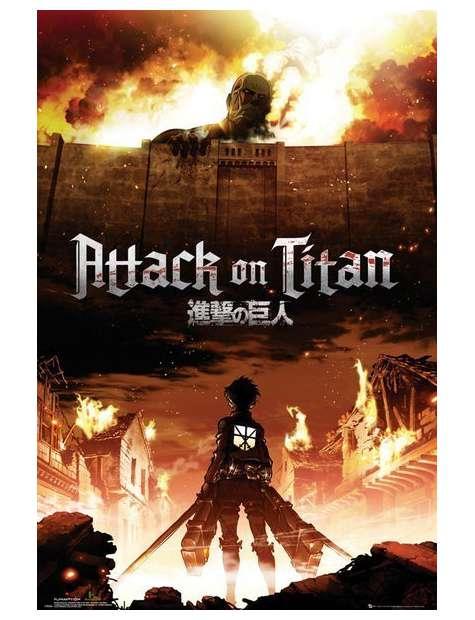 Atak Tytanów. Attack On Titan Key Art - plakat