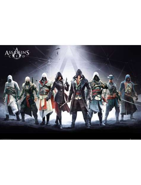 Assassins Creed Bohaterowie - plakat