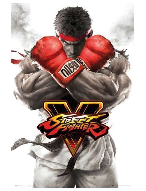 Street Fighter 5 Ryu Key Art - plakat