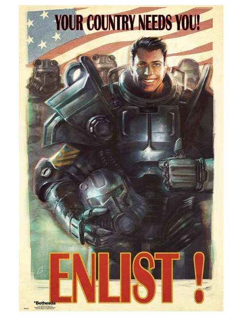 Fallout 4 Your County Needs You - plakat