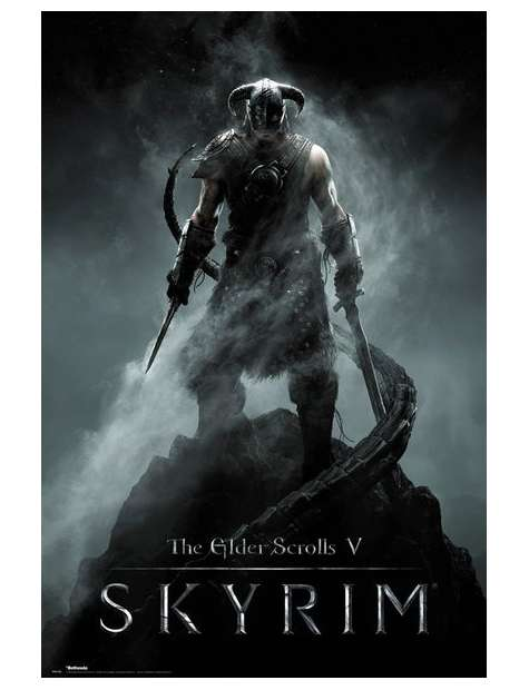 The Elder Scrolls V Skyrim Dragonborn - plakat