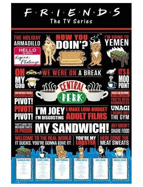 Przyjaciele Friends Infografika - plakat