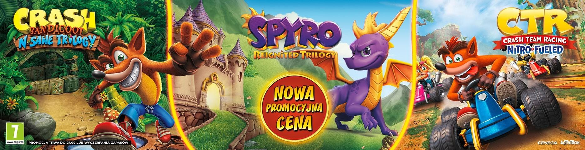 Spyro i Crash w super cenie!
